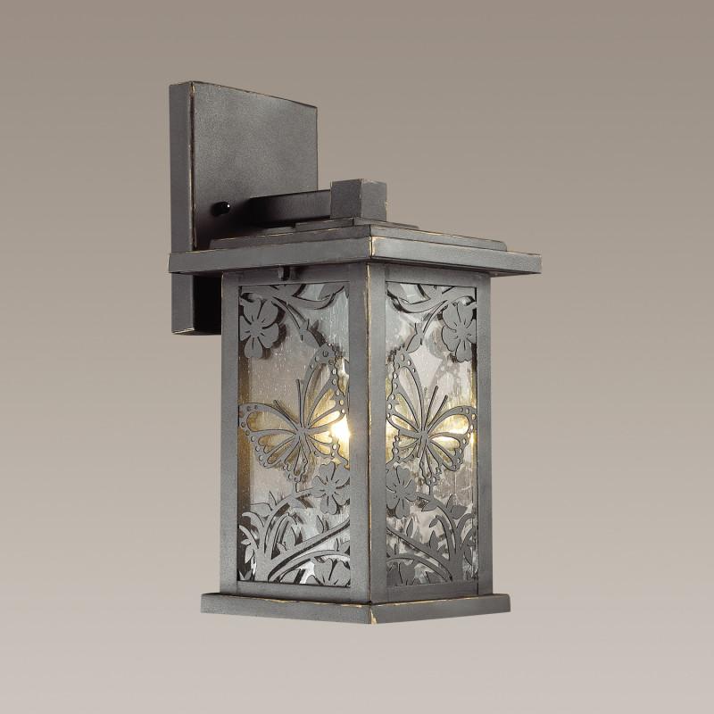 Odeon Light 4038/1W ODL18 721 черный/золотая патина Уличный настенный светильник IP44 E27 60W 220V PAPION фоновая декорация 1 5 2 2 s 4038 s 4038
