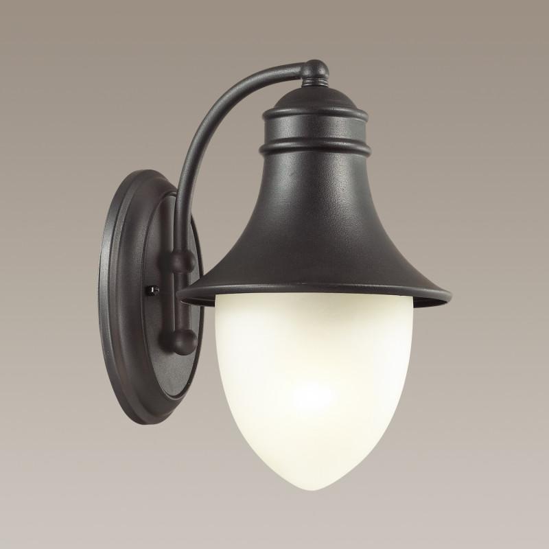 Odeon Light 4041/1W ODL18 724 черный Уличный настенный светильник IP44 E27 60W 220V HOUSE