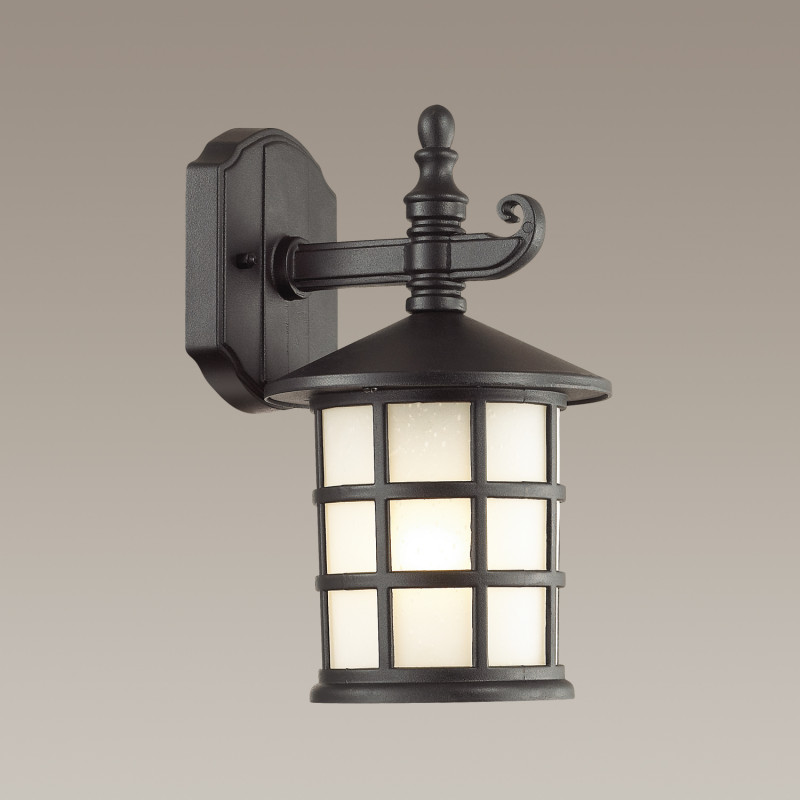 Odeon Light 4042/1W ODL18 724 черный Уличный настенный светильник IP44 E27 60W 220V HOUSE