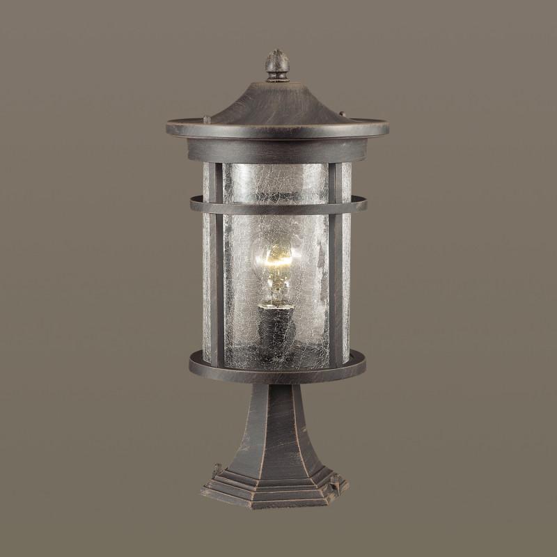 Odeon Light 4044/1B ODL18 718 черный/патина Уличный светильник на столб IP44 E27 60W 220V VIRTA