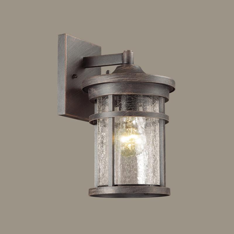 Фото Odeon Light 4044/1W ODL18 718 черный/патина Уличный настенный светильник IP44 E27 60W 220V VIRTA. Купить с доставкой