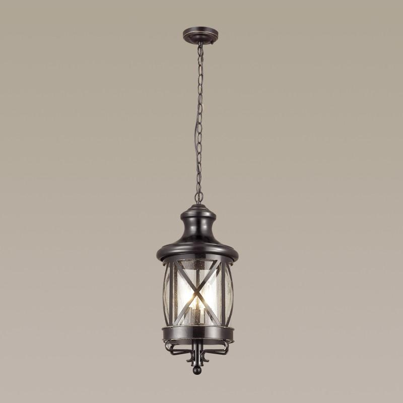 Odeon Light 4045/3 ODL18 716 черный/золотая патина Уличный светильник-подвес IP44 E14 3*60W 220V SATION dt 4045