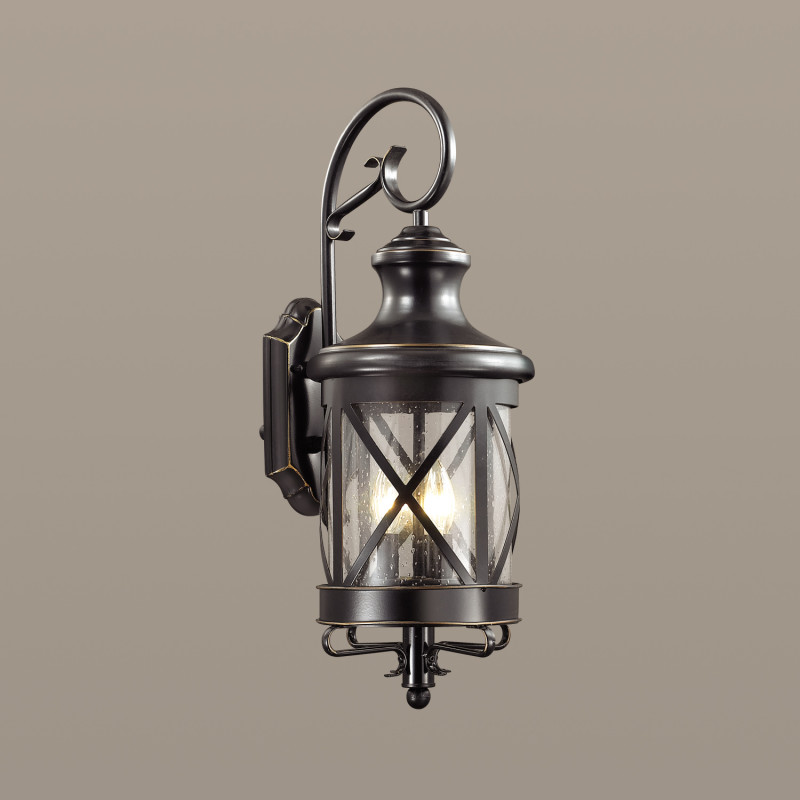 Odeon Light 4045/3W ODL18 717 черный/золотая патина Уличный настенный светильник IP44 E14 3*60W 220V SATION dt 4045
