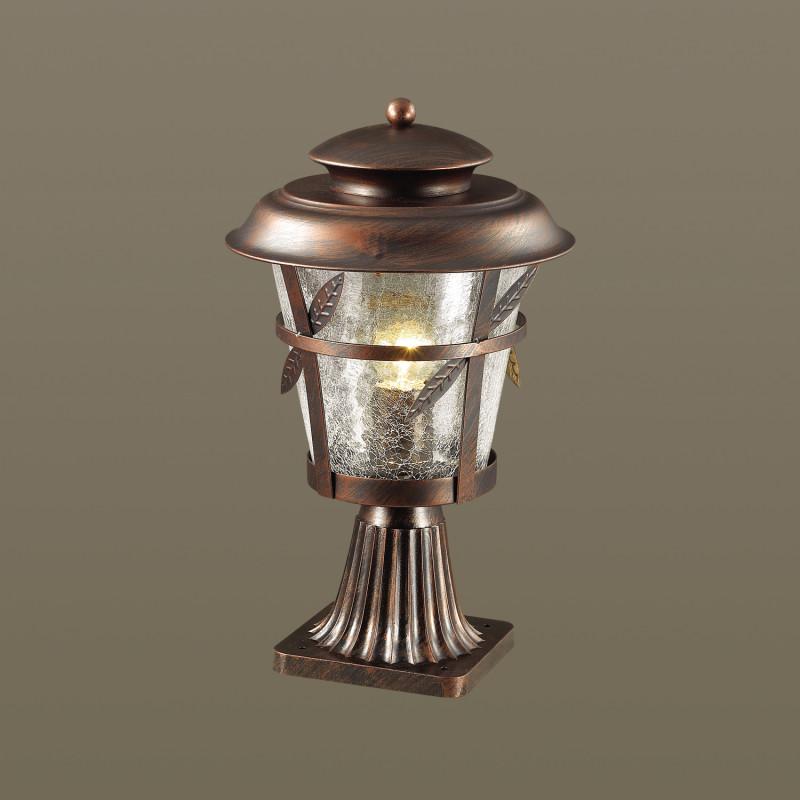Odeon Light 4052/1B ODL18 722 коричневый/прозрачый Уличный светильник на столб IP44 E27 60W 220V ALETTI