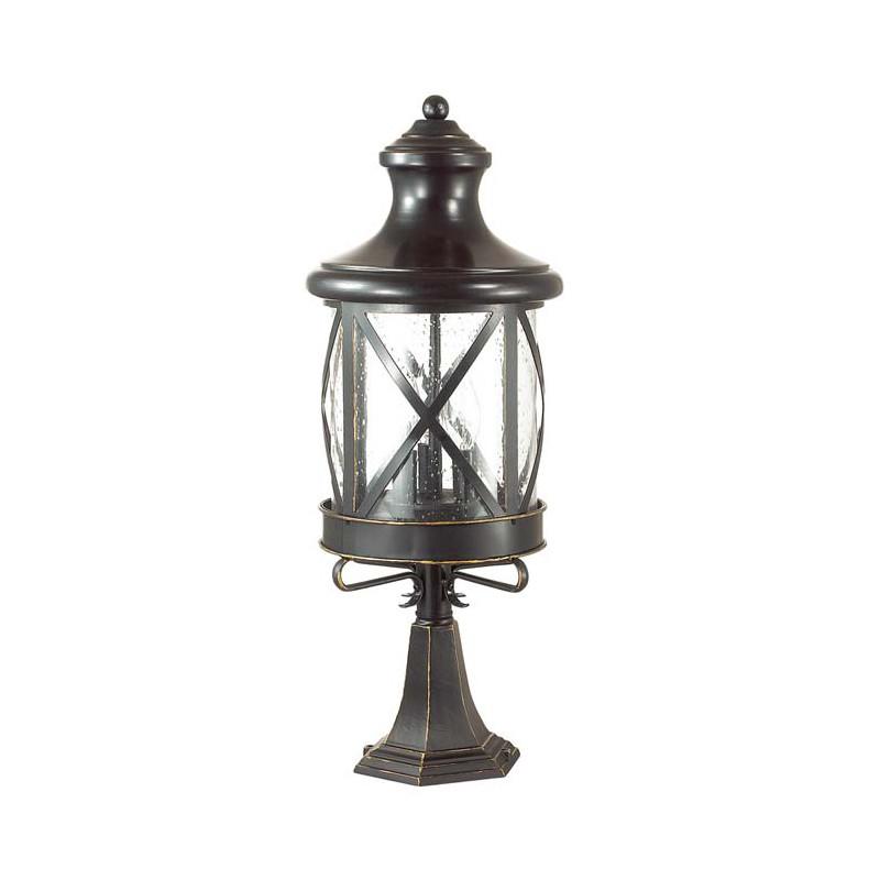 Odeon Light 4045/3B ODL18 717 черный/золотая патина Уличный светильник на столб IP44 E14 3*60W 220V SATION dt 4045
