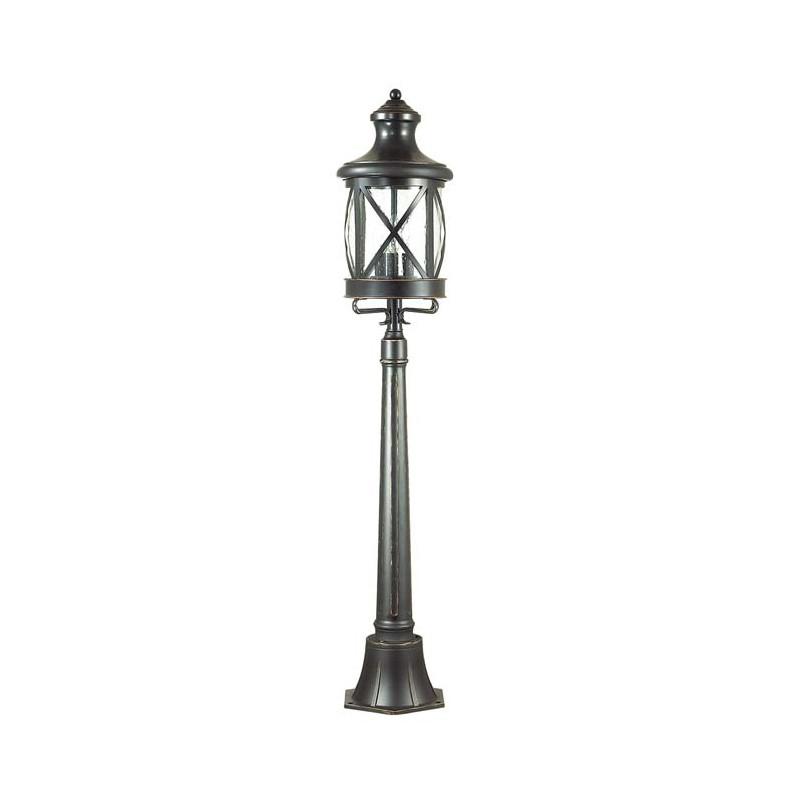 Odeon Light 4045/3F ODL18 717 черный/золотая патина Уличный светильник, 124см IP44 E14 3*60W 220V SATION dt 4045