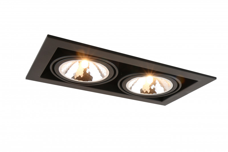 ARTE Lamp A5949PL-2BK встраиваемый светильник arte lamp cardani semplice a5949pl 1wh