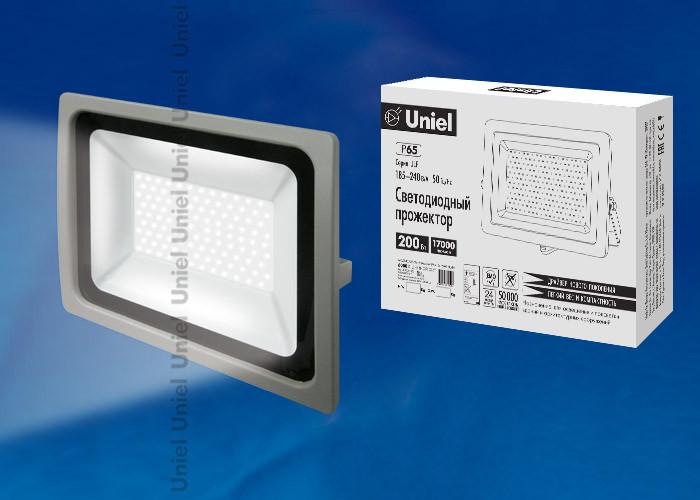 Uniel ULF-F16-200W/DW IP65 185-240В SILVER uniel ulf f16 100w nw ip65 185 240в silver