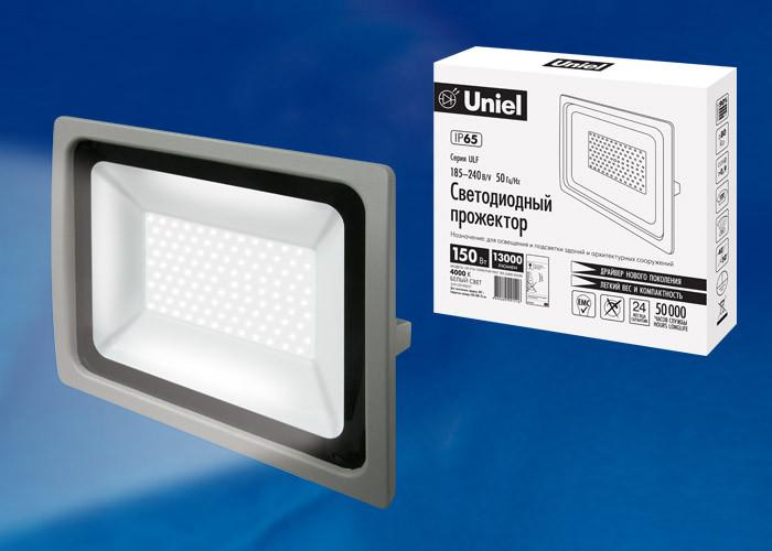 Uniel ULF-F16-150W/NW IP65 185-240В SILVER uniel ulf f16 100w nw ip65 185 240в silver