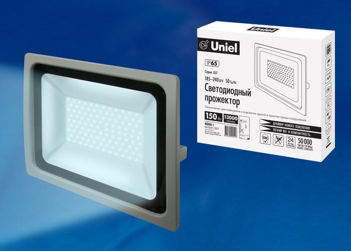 Uniel ULF-F16-150W/DW IP65 185-240В SILVER uniel ulf f16 100w nw ip65 185 240в silver