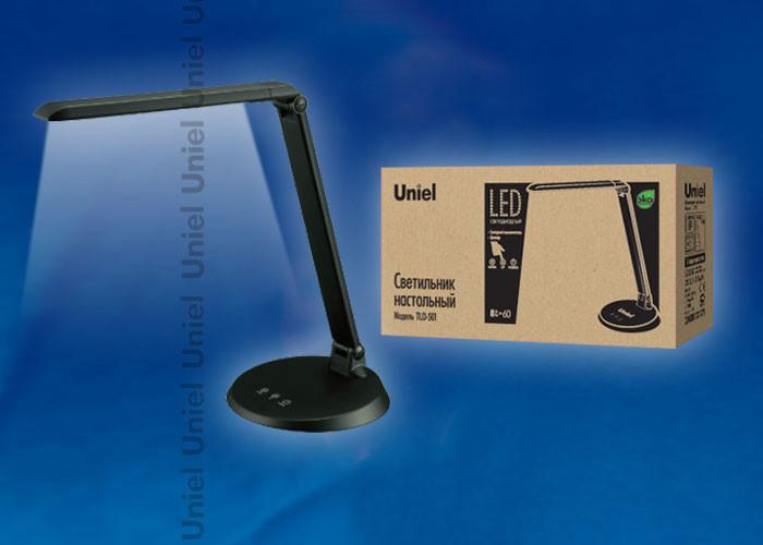 Uniel TLD-501 Black/LED/546Lm/5000K/Dimer uniel tld 509 black led 840lm 4color dimer usb
