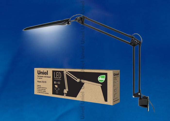 Uniel TLD-525 Black/LED/500Lm/4500K/Dimmer uniel tld 509 black led 840lm 4color dimer usb