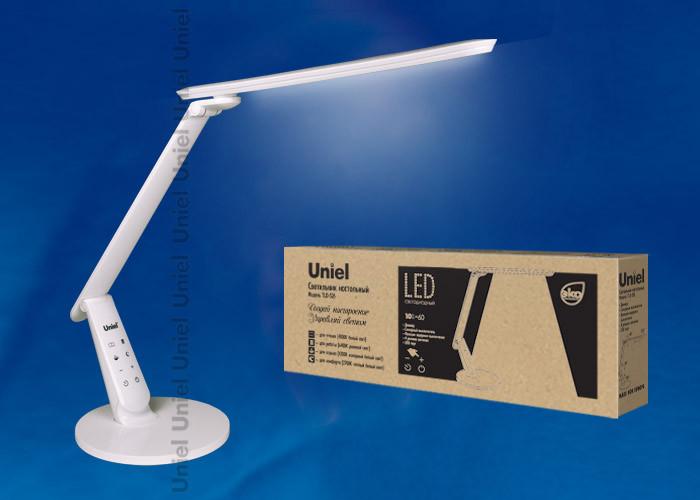 Uniel TLD-526 White/LED/650Lm/4COLOR/Dimmer/USB uniel tld 509 black led 840lm 4color dimer usb