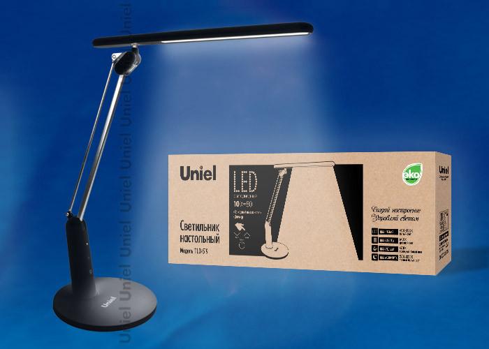 Uniel TLD-519 Black/LED/800Lm/2700-6400K/Dimmer лампа настольная uniel tld 519 white led 800lm 2700 6400k dimmer