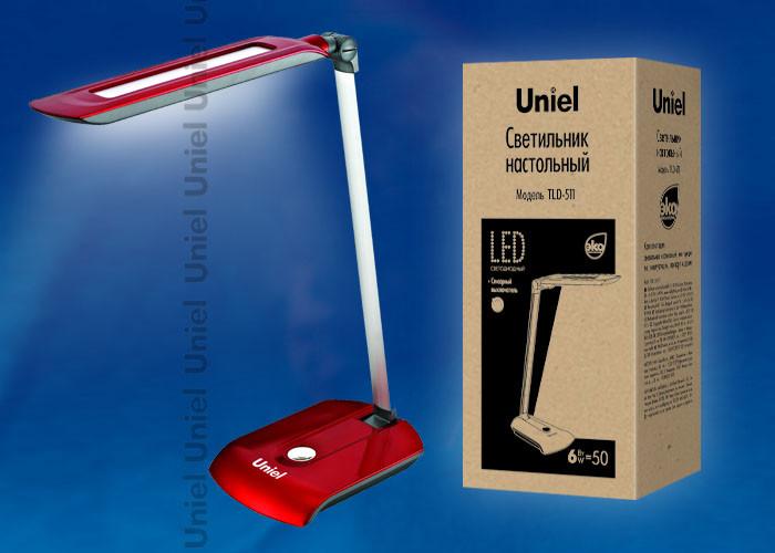 Uniel TLD-511 Red/LED/550Lm/4500K светильник настольный uniel led tld 515 светодиодный с диммером цвет серый 9 вт