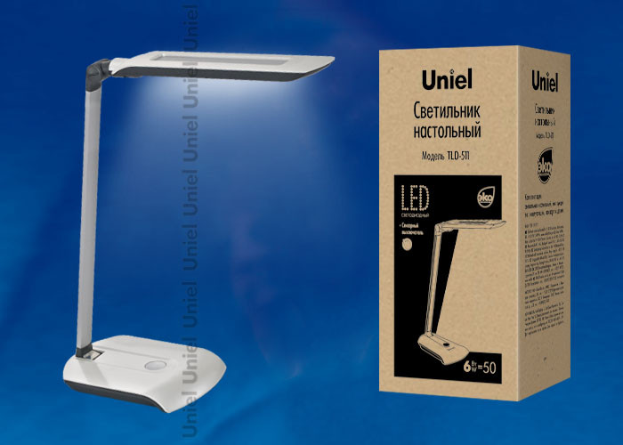 Uniel TLD-511 Pearl/LED/550Lm/4500K светильник настольный uniel led tld 515 светодиодный с диммером цвет серый 9 вт