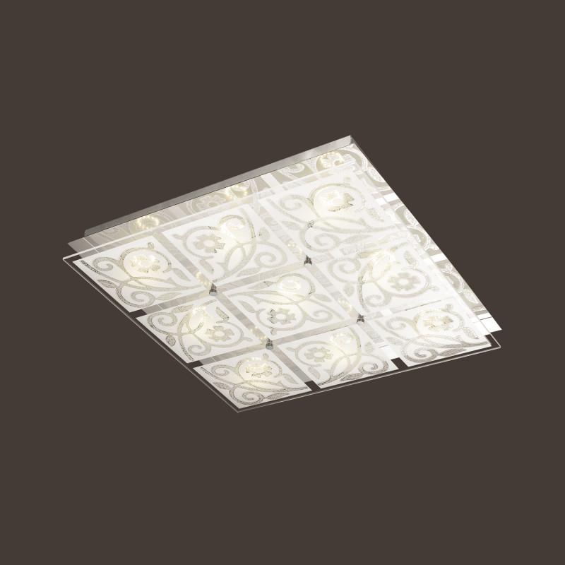 Odeon Light 4058/45CL ODL18 069 хром/белый Люстра потолочная LED 45W 230V GRACE кофемашина delonghi ecam 45 760 w белый