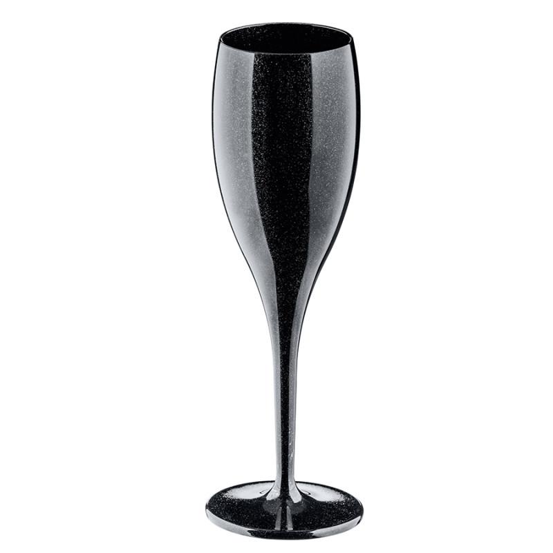 Koziol Бокал для шампанского cheers no. 1, 100 мл, чёрный three cheers for women