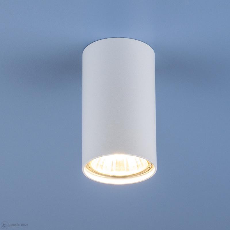 Elektrostandard Накладной точечный светильник 1081 (5255) GU10 WH белый потолочный светильник elektrostandard 1081 5257 gu10 sl серебро 4690389104381