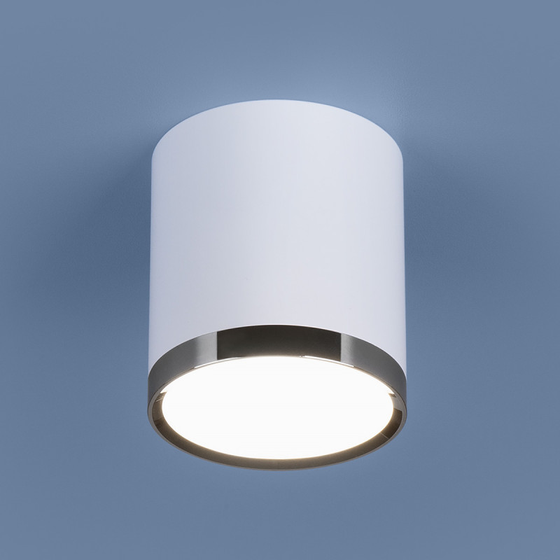 Elektrostandard DLR024 6W 4200K белый матовый elektrostandard лампа светодиодная elektrostandard свеча сd led 6w 4200k e27 4690389081538