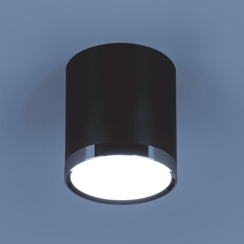 Elektrostandard DLR024 6W 4200K черный матовый elektrostandard лампа светодиодная elektrostandard свеча сd led 6w 4200k e27 4690389081538