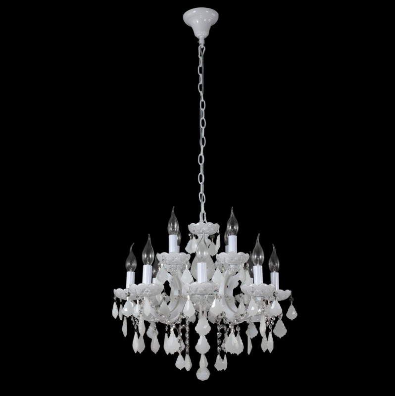 Crystal Lux INES SP8+4 WHITE люстра crystal lux fontain sp8
