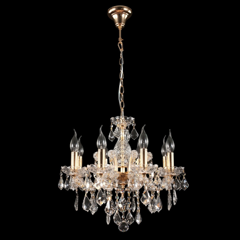 Crystal Lux INES SP8 GOLD/TRANSPARENT люстра crystal lux fontain sp8