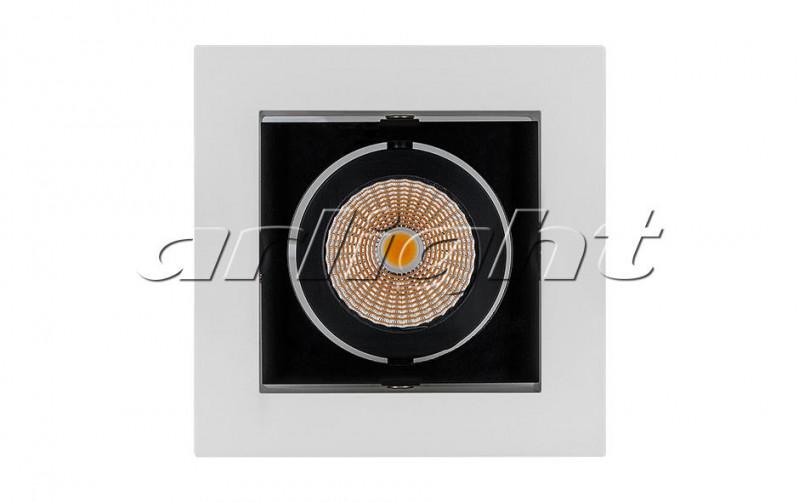 Arlight Светильник CL-KARDAN-S102x102-9W White (WH-BK, 38 deg) массажер нозоми мн 102