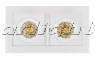 Фото Arlight Светильник CL-KARDAN-S180x102-2x9W White (WH, 38 deg). Купить с доставкой