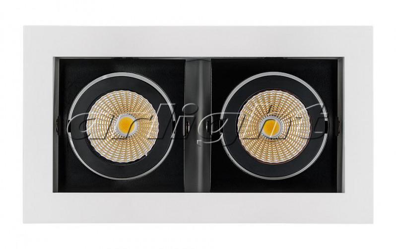 Arlight Светильник CL-KARDAN-S180x102-2x9W Warm (WH-BK, 38 deg) starfit bk 102 racer
