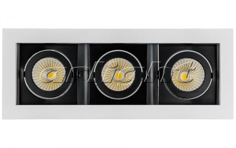 Arlight Светильник CL-KARDAN-S260x102-3x9W Day (WH-BK, 38 deg) комплект накладок на евроцилиндр archie genesis cl 20g cl s cold