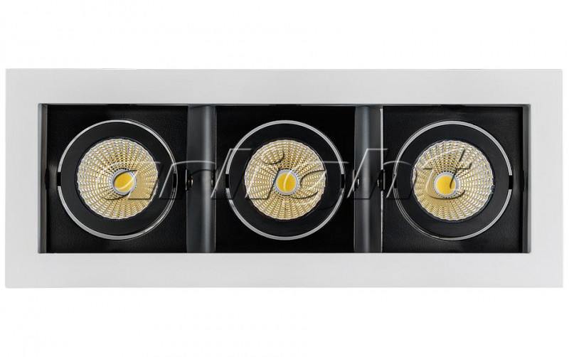 Arlight Светильник CL-KARDAN-S260x102-3x9W Warm (WH-BK, 38 deg) starfit bk 102 racer