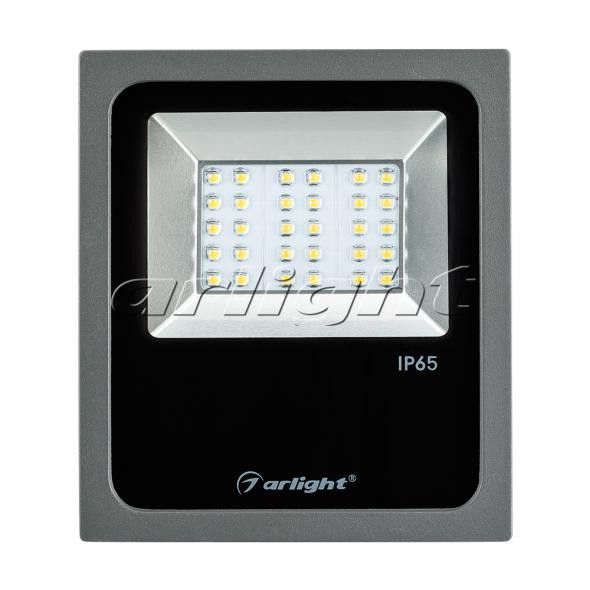 Arlight Светодиодный прожектор AR-FLAT-ARCHITECT-30W-220V Warm (Grey, 50x70 deg)
