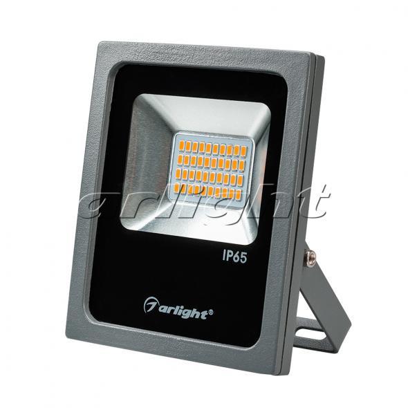 Arlight Светодиодный прожектор AR-FLAT-20W-220V Yellow (Grey, 120 deg) arlight светодиодный прожектор ar flat architect 20w 220v day grey 50x70 deg