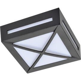 ECOLA Ecola GX53 LED 3083W светильник накладной IP65 матовый Квадрат с решеткой металл. 1*GX53 Черный 136x ecola ecola gx53 led 8003a светильник накладной ip65 прозрачный цилиндр металл 1 gx53 белый матовый 114x1