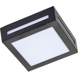 ECOLA Ecola GX53 LED 3082W светильник накладной IP65 матовый Квадрат металл. 1*GX53 Черный 136x136x55 ecola ecola gx53 led 8003a светильник накладной ip65 прозрачный цилиндр металл 1 gx53 белый матовый 114x1