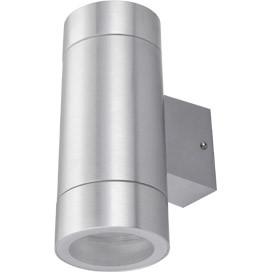 ECOLA Ecola GX53 LED 8013A светильник накладной IP65 прозрачный Цилиндр металл. 2*GX53 Cатин-хром 205x140x ecola ecola gx53 led 8003a светильник накладной ip65 прозрачный цилиндр металл 1 gx53 белый матовый 114x1