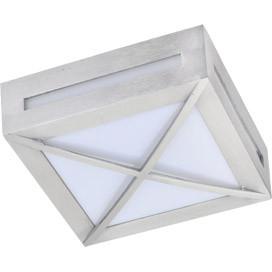 ECOLA Ecola GX53 LED 3083W светильник накладной IP65 матовый Квадрат с решеткой металл. 1*GX53 Cатин-хром ecola ecola gx53 led 8003a светильник накладной ip65 прозрачный цилиндр металл 1 gx53 белый матовый 114x1