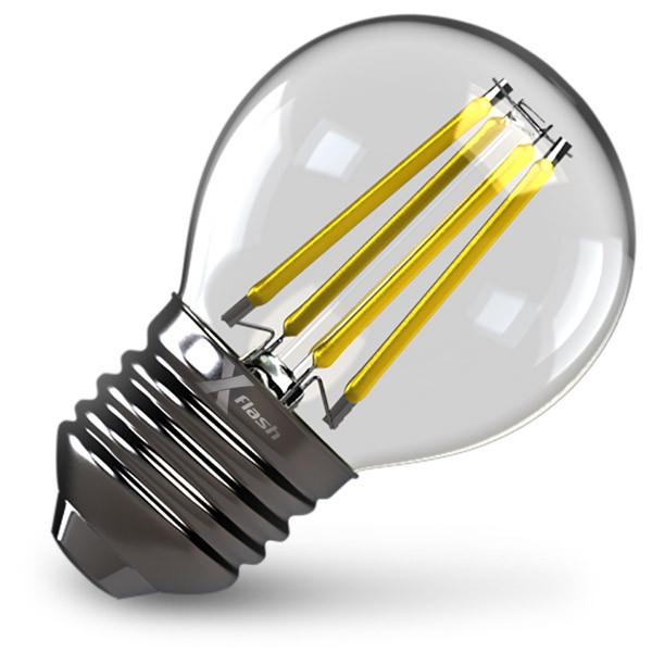 X-Flash Лампа LED X-flash XF-E27-FL-G45-4W-4000K-230V (арт.48021) x flash лампа led x flash xf e27 fl с35 4w 2700k 230v арт 48861