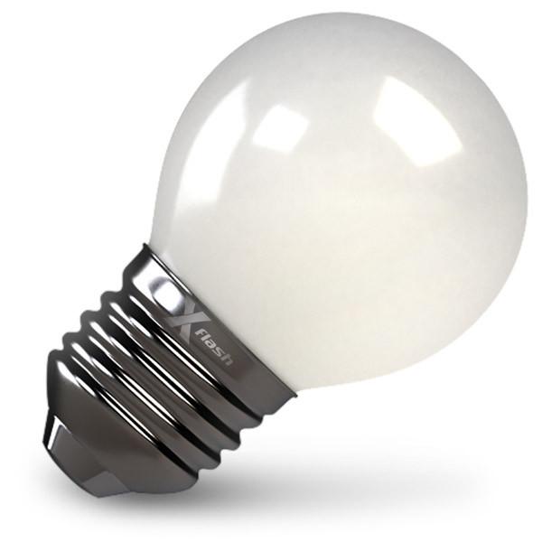 X-Flash Лампа LED X-flash XF-E27-FLM-G45-4W-4000K-230V (арт.48168) x flash лампа светодиодная x flash шар матовая e27 4w 4000k 48168