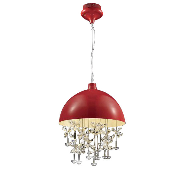 DeLight Collection Подвесной светильник Crystal Light Red светильник 3d light fx авто red