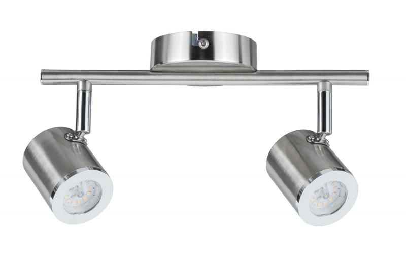 Фото Paulmann Spotlight Tumbler 2x5W Nickel 230V Metal. Купить с доставкой