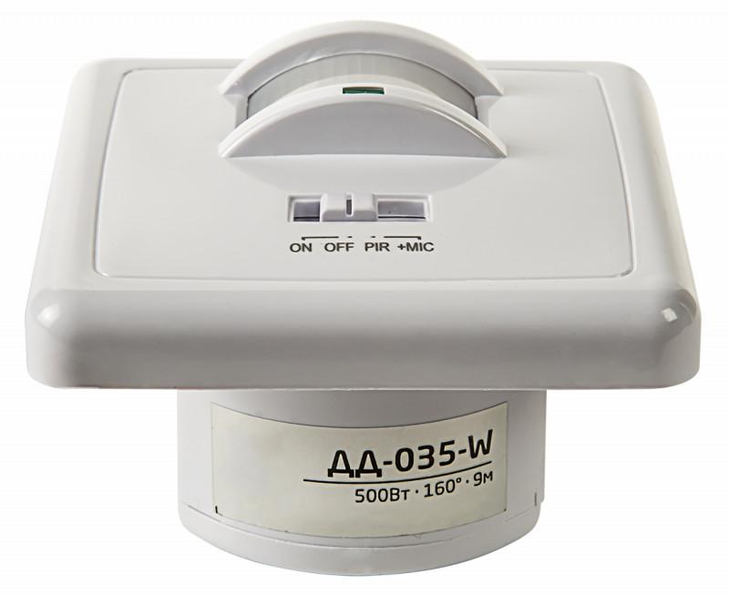 LLT Датчик движения ДД-035-W оптико-акустический 500Вт 160 гр.9м IP20 белый LLT