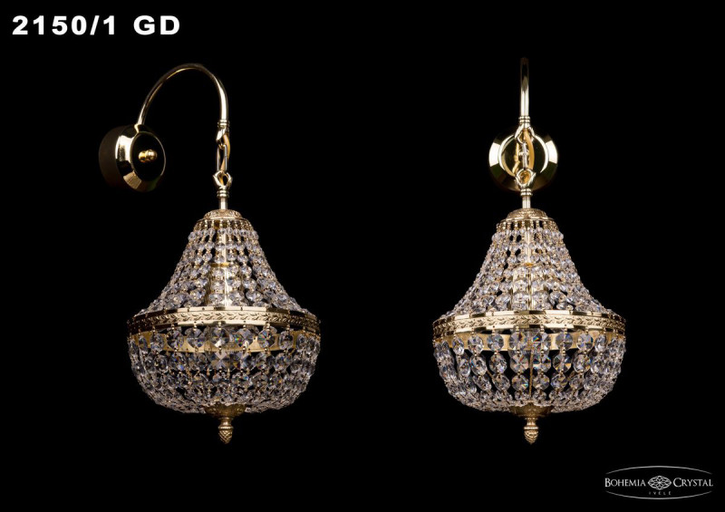 Bohemia Ivele Crystal 2161/1/20/G бра bohemia ivele 2161 gold 2161 1 20 gd