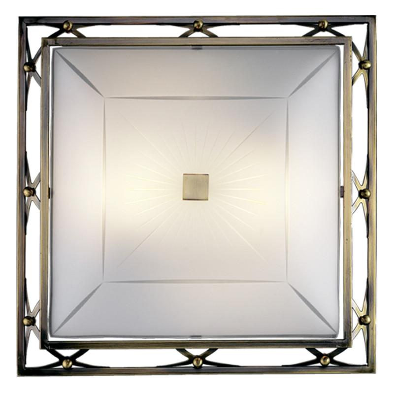 Sonex 2261 FBK08 022 белый/бронзовый Н/п светильник E27 2*100W 220V VILLA потолочный светильник sonex villa 2261