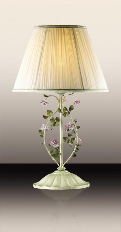 все цены на Odeon Light 2796/1T ODL15 599 беж/декор.цветы/абажур ткань Н/лампа E27 60W 220V TENDER