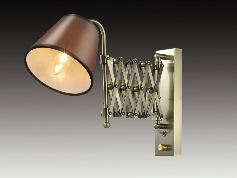 Odeon Light 2876/1W ODL16 109 бронзовый/абажур ткань Бра раздвижн. с диммером E14 40W 220V LARK спот odeon lark 2876 1w