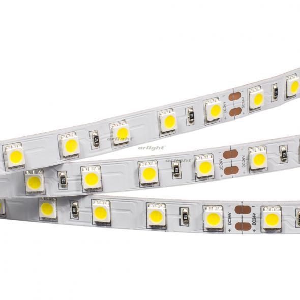 Arlight Лента 5 метров RT 2-5000 24V Cool 8K 2x (5060, 300 LED, LUX) цена 2017