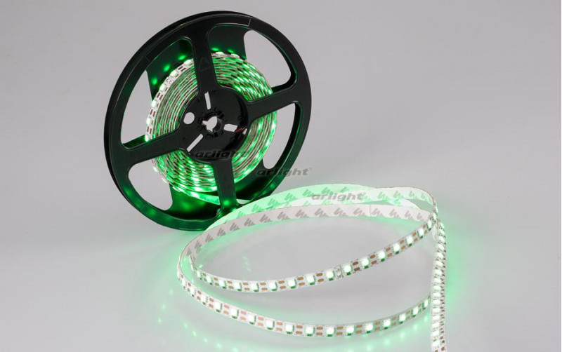 Arlight Лента 5 метров RT 2-5000 12V Cx1 Green 2x (5060, 360 LED, LUX) лента arlight 015702