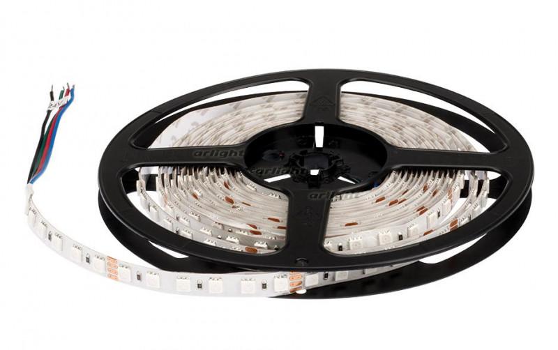 Arlight Лента 5 метров RT 2-5000 24V RGB 3x (5060, 420 LED, LUX) цена 2017